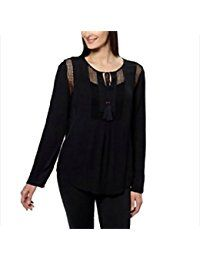 Joseph A. Womens Crinkle Tops with Crochet Detail * Want additional info? Click on the image.