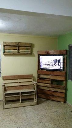 My tres primeros pallet furnitures