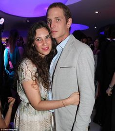 New parents...Tatiana Santo Domingo with Andrea Casiraghi in May 2012. The couple welcomed a son yesterday (31 March 2013)