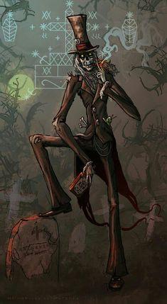 Baron Samedi by AspectusFuturus on DeviantArt Baron Samedi, Dark Fantasy, Fantasy Art, Voodoo Costume, Voodoo Priest, Arte Zombie, Voodoo Tattoo, Voodoo Magic, Arte Peculiar