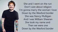 Nancy mulligan lyrics. From Ed Sheeran's new album divide