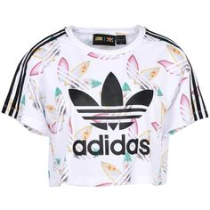 Adidas Originals By Pharrell Williams T-shirt ($32) ❤ liked on Polyvore featuring tops, t-shirts, white, jersey tee, adidas originals, jersey t shirt, white logo t shirts and white jersey