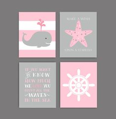Baby girl nursery decor, Baby Girl Nautical Nursery Art, nautical Wall decor, baby girl nursery bedding, Pink Gray nursery, INSTANT DONLOAD by OnlyPrintableArts on Etsy https://www.etsy.com/listing/203706049/baby-girl-nursery-decor-baby-girl