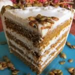 Vegan Pumpkin Spice Layer Cake