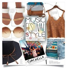 """""""Music Festival Style: Coachella 2017"""" by alysham27 ❤ liked on Polyvore featuring Vince Camuto, WithChic, Aéropostale and Linda Farrow"""