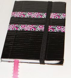 Don't Eat the Paste: duct tape notebook - recycle empty girls scout cookie boxes for cover instead!