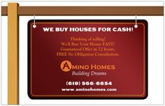 Oversized postcards were part of the Amino Homes package & used in mailer marketing campaigns.