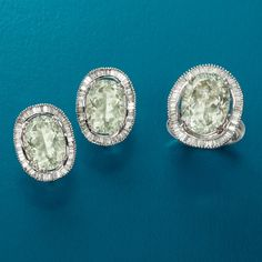>>Click on the Green Amethyst and Diamond jewelry to see ...