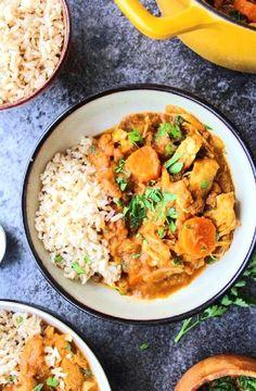 Moroccan chicken stew -- Low FODMAP Recipe and Gluten Free Recipe #lowfodmaprecipe #glutenfreerecipe #lowfodmap #glutenfree