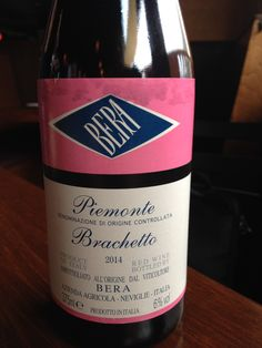 2014 Bera Brachetto - Piedmont - Intense super fruity nose. Sweet, but not syrupy sweet. Fruity with a lingering finish. A simple Brachetto.