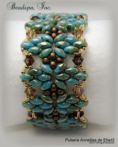 Lovely!! Annelies bracelet beaded by my Beading Friends- Beading Tutorials