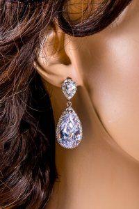 Klasyczne lśniące kolczyki krople PROMOCJA Sparkly Jewelry, Unique Jewelry, Diamond Earrings, Trending Outfits, Handmade Gifts, Etsy, Vintage, Fashion, Kid Craft Gifts