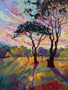 California Sky - Contemporary Impressionism Art Gallery in San Diego - Modern Landscape Oil Paintings for Sale by Erin Hanson