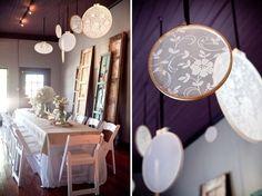 Lace Wedding Decor - Ceremony Decoration - Reception Decoration -