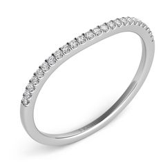Thin Diamond Wedding Band Ring by S.Kashi & Sons www.russellandballard.com