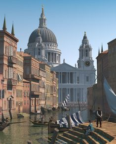 Painting by marlow, lovingly ray-traced by a modern person