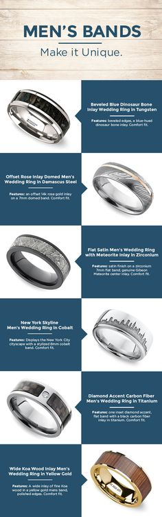 Brilliance.com has the largest selection of men's wedding bands. No matter what your style, we have a unique men's wedding band for you!
