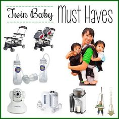 HAVING TWINS IS NO JOKE! But some of these products are likely to make that first year a lot easier for you and your babies! Must-Haves for twin babies!