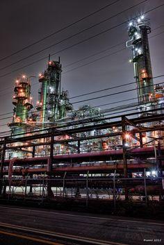 https://flic.kr/p/wV2NBQ | Pipe City | 工場が主役とか、パイプが主役とか、もうどっちでもいい…好きにしてください♡  SIGMA DP1 Merrill  #CoolJapan #kawasaki #technoscape #pipescape