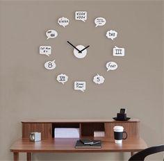 Punto Design. Reloj personalizable de Pared TICK TALK