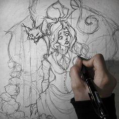 #irenhorrors #instart #art #artwork #wip #pencil #sketch #illustration #edgarallanpoe #theblackcat
