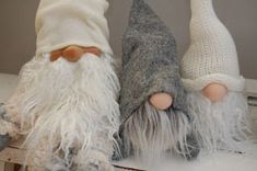 Crocheted Gnomes!  So adorable!