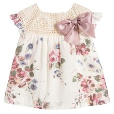 Nanos Pink Floral Cotton Dress Set at Childrensalon.com