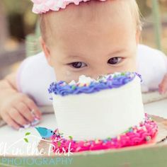 Best smash cake picture ever!! My sweet niece    Walk in the Park Photography.