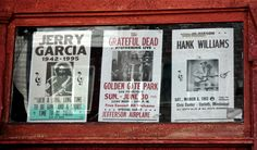 Some posters in shop window on Haight Street, San Francisco. Golden Gate Park, San Francisco, Window, Posters, Street, Shop, Photos, St Francis, Windows