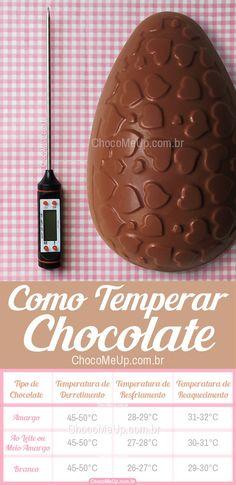Como temperar o chocolate! Chocolate Bark, Homemade Chocolate, Chocolate Lovers, Chocolate Cookies, Melting Chocolate, Macaroons, Cake Games, Cinnamon Cream Cheese Frosting, Pumpkin Spice Cupcakes