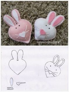Find images and videos about felt on We Heart It - the app to get lost in what you love. Felt Diy, Felt Crafts, Fabric Crafts, Diy And Crafts, Crafts For Kids, Bunny Crafts, Easter Crafts, Spring Crafts, Holiday Crafts