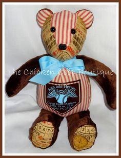 Memory Bear made to order by ChickenCoopBoutique on Etsy