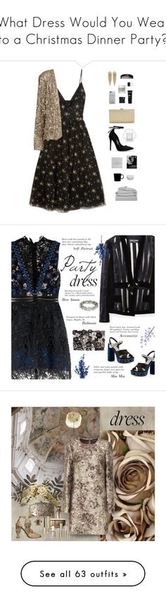 """""""What Dress Would You Wear to a Christmas Dinner Party?"""" by keziakaligis on Polyvore featuring Valentino, Dogeared, iittala, Bloomingville, La Regale, Kenneth Jay Lane, GANT, NYX, Tart and Omorovicza"""