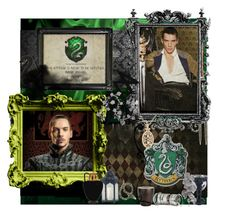 """Jonathan Rhys-Meyers as Salazar Slytherin"" by marisatacoma ❤ liked on Polyvore featuring art"