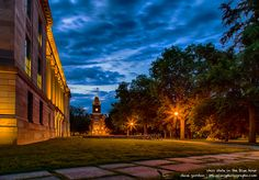 Ohio State University campus in the blue hour #buckeyes #ohiostate