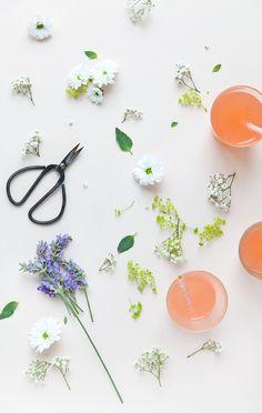 limonade framboises, citron vert, menthe et fleur d'oranger