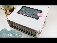 PHOTO BOOK TUTORIAL | SCRAPBOOK IDEAS - YouTube Mini Albums Scrap, Mini Scrapbook Albums, Scrapbook Journal, Scrapbook Sketches, Large Scrapbook, Baby Scrapbook, Paper Craft Work, Paper Crafts, Tutorial Scrapbook