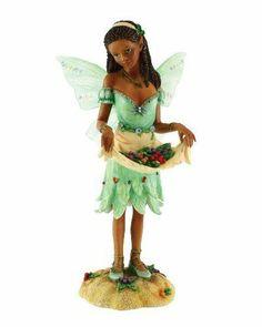 Faerie Glen FG8842 African American Faerie Figurine 6-1/4-Inch Berry Kiss 2