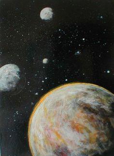 Alien planets painted by David B. Ellis