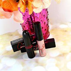 MAC VIVA GLAM Ariana Grande Lipstick + Lipglass Swatches + Review - Blushing Noir