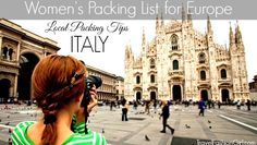 If you're unsure about what to wear in Italy, these local packing tips will help you plan your travel wardrobe