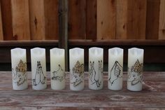 Dance Mudra Candles