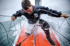Onboard the IMOCA Open 60 Alex Thomson Racing Hugo Boss during a training session before the Vendée Globe.The Vendée Globe is a round-the-world single-handed yacht race, sailed non-stop and without assistance.