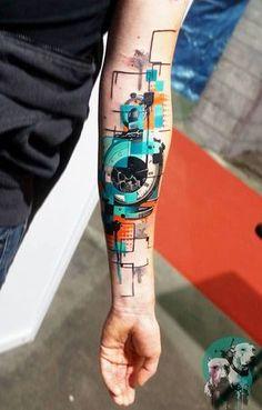 Seit vier Jahren bereist der griechische Tattoo-Artist Dynoz die ganze Welt als. For four years, the Greek tattoo artist Dynoz has traveled the world as a guest tattoo artist. Hand Tattoos, Neue Tattoos, Forearm Tattoos, Body Art Tattoos, Sleeve Tattoos, Tatoos, Tattoo Arm, Rib Tattoos, Lion Tattoo