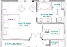 Master Bathroom and bedroom layout