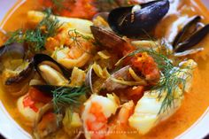 Bouillabaisse is the classic French take on Mediterranean Fisherman's Stew. Flavored with orange peel, saffron, garlic, and olive oil, it's delicious as it is good for you.