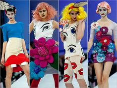 Pop Art Fashion by Fam Irvoll Spring 2011. Follow Miss Circle for more vintage inspirations! www.misscircle.com