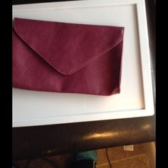 Maroon Bag Maroon Bag. NEW. Leather with a magmatic snap! So very fancy 7d6b714481917