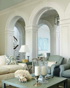 Arches in living room. #home #arches