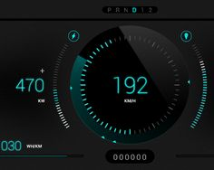 Rimac Concept_One Car Dashboard by Nenad Papic, via Behance